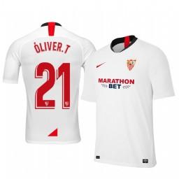 2019/20 Óliver Torres Sevilla Home Authentic Jersey