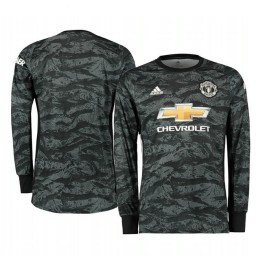 2019/20 Manchester United Dark Grey Away Goalkeeper Authentic Jersey