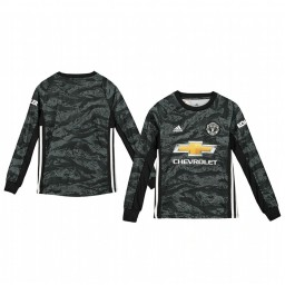 Youth 2019/20 Manchester United Dark Grey Away Goalkeeper Authentic Jersey
