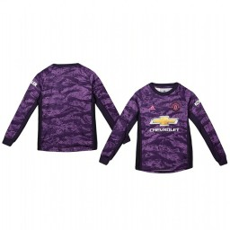 Youth 2019/20 Manchester United Purple Home Goalkeeper Authentic Jersey