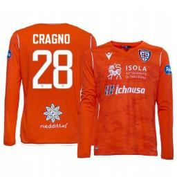 Youth 2019/20 Cagliari Calcio Alessio Cragno Orange Goalkeeper Away Authentic Jersey