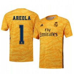 2019/20 Real Madrid Alphonse Areola Yellow Goalkeeper Home Authentic Jersey