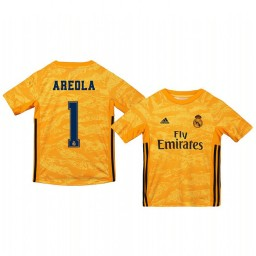 Youth 2019/20 Real Madrid Alphonse Areola Yellow Goalkeeper Home Authentic Jersey