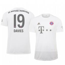 2019/20 Bayern Munich Alphonso Davies White Away Authentic Jersey
