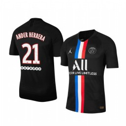 2019/20 Ander Herrera Paris Saint-Germain Black Fourth official Authentic Jersey