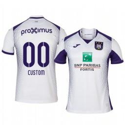 2019/20 Custom Anderlecht Away White Short Sleeve Authentic Jersey
