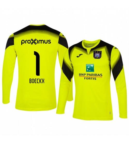 2019/20 Frank Boeckx Anderlecht Goalkeeper Yellow Long Sleeve Authentic Jersey