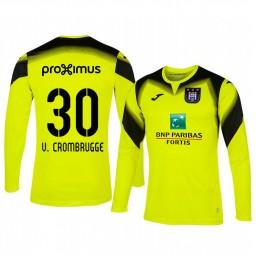 2019/20 Hendrik Van Crombrugge Anderlecht Goalkeeper Yellow Long Sleeve Authentic Jersey