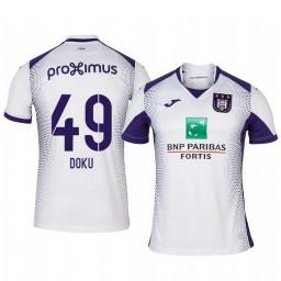 2019/20 Jeremy Doku Anderlecht Away White Short Sleeve Authentic Jersey