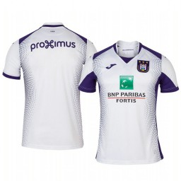 2019/20 Anderlecht Away White Short Sleeve Authentic Jersey