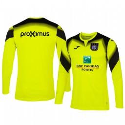2019/20 Anderlecht Goalkeeper Yellow Long Sleeve Authentic Jersey