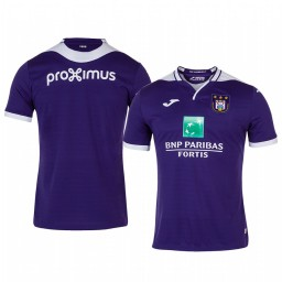 2019/20 Anderlecht Home Purple Short Sleeve Authentic Jersey