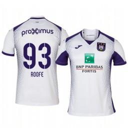 2019/20 Kemar Roofe Anderlecht Away White Short Sleeve Replica Jersey