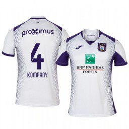 2019/20 Vincent Kompany Anderlecht Away White Short Sleeve Authentic Jersey
