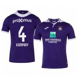 2019/20 Vincent Kompany Anderlecht Home Purple Short Sleeve Authentic Jersey