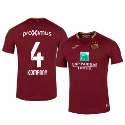 2019/20 Vincent Kompany Anderlecht Third Red Short Sleeve Authentic Jersey