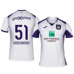 2019/20 Yari Verschaeren Anderlecht Away White Short Sleeve Authentic Jersey