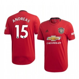 2019/20 Andreas Pereira Manchester United Home Short Sleeve Authentic Jersey