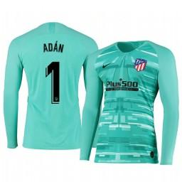 2019/20 Atletico de Madrid Antonio Adan Green Long Sleeve Goalkeeper Authentic Jersey