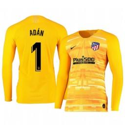 2019/20 Atletico de Madrid Antonio Adan Yellow Long Sleeve Goalkeeper Authentic Jersey