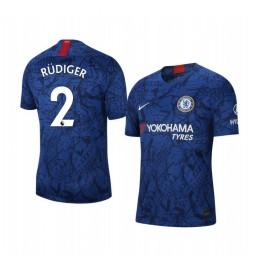 2019/20 Antonio Rudiger Chelsea Home Short Sleeve Authentic Jersey