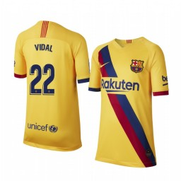 2019/20 Barcelona Arturo Vidal Away Short Sleeve Authentic Jersey