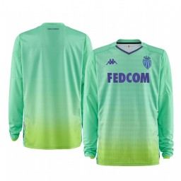2019/20 AS Monaco Green Goalkeeper Home Authentic Jersey