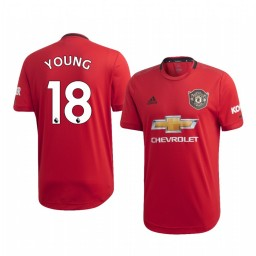 2019/20 Ashley Young Manchester United Home Short Sleeve Authentic Jersey