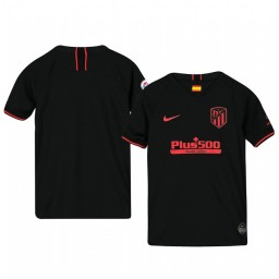Youth 2019/20 Atletico de Madrid Away Black Official Short Sleeve Authentic Jersey