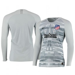 2019/20 Atletico de Madrid Gray Long Sleeve Goalkeeper Authentic Jersey