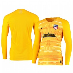 2019/20 Atletico de Madrid Yellow Long Sleeve Goalkeeper Authentic Jersey