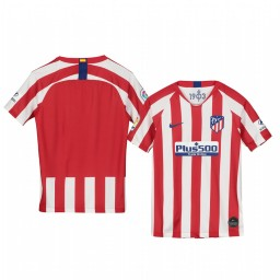Youth 2019/20 Atletico de Madrid Home Red White Official Short Sleeve Authentic Jersey