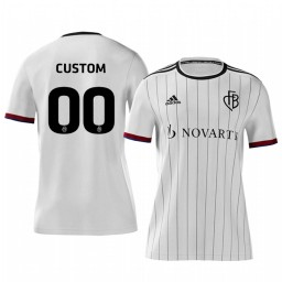 2019/20 Basel Custom White Away Short Sleeve Authentic Jersey