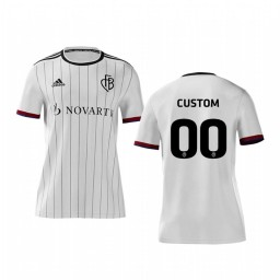 Youth 2019/20 Basel Custom White Away Short Sleeve Authentic Jersey