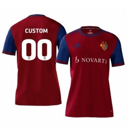 2019/20 Basel Custom Red Home Short Sleeve Authentic Jersey