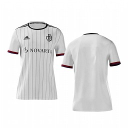 Youth 2019/20 Basel White Away Short Sleeve Authentic Jersey