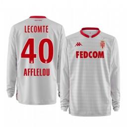 2019/20 AS Monaco Benjamin Lecomte White Goalkeeper Away Authentic Jersey