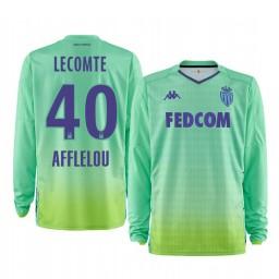 2019/20 AS Monaco Benjamin Lecomte Green Goalkeeper Home Authentic Jersey