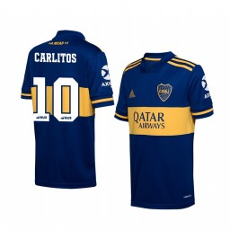 Youth 2019/20 Boca Juniors Carlos Tevez Navy Home Short Sleeve Authentic Jersey