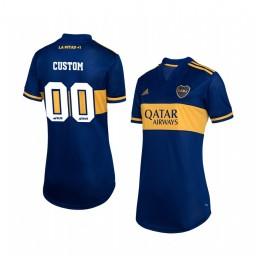 Women's 2019/20 Boca Juniors Custom Navy Home Short Sleeve Authentic Jersey