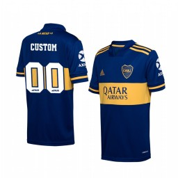 Youth 2019/20 Boca Juniors Custom Navy Home Short Sleeve Authentic Jersey