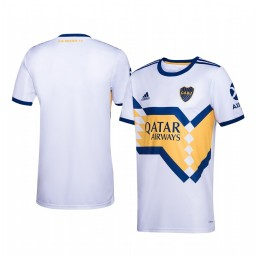 Youth 2019/20 Boca Juniors White Away Short Sleeve Authentic Jersey