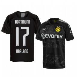 2019/20 Erling Haaland Borussia Dortmund Away Black Short Sleeve Authentic Jersey