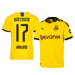 2019/20 Erling Haaland Borussia Dortmund Home Yellow Short Sleeve Authentic Jersey