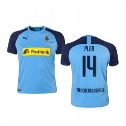 Youth 2019/20 Borussia Monchengladbach Alassane Pléa Blue Away Short Sleeve Authentic Jersey