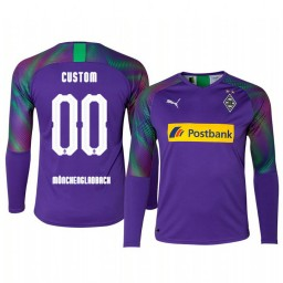 2019/20 Borussia Monchengladbach Custom Goalkeeper Authentic Long Sleeve Authentic Jersey