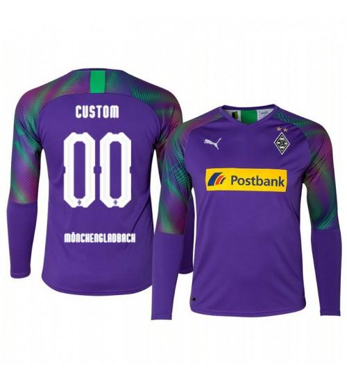 2019/20 Borussia Monchengladbach Custom Goalkeeper Authentic Long Sleeve Authentic Jersey