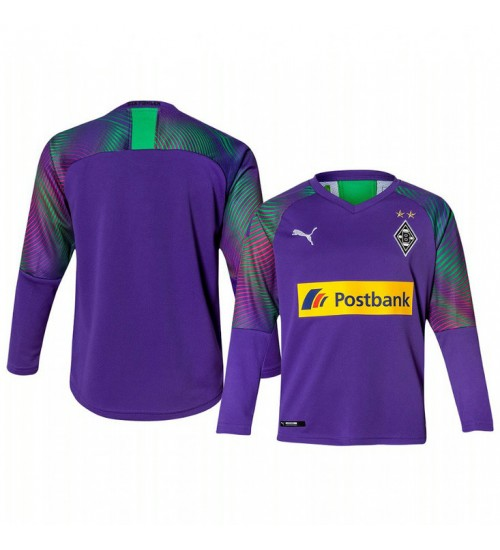 Youth 2019/20 Borussia Monchengladbach Goalkeeper Authentic Long Sleeve Authentic Jersey