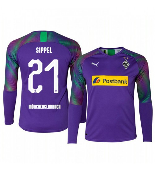 2019/20 Borussia Monchengladbach Tobias Sippel Goalkeeper Authentic Long Sleeve Authentic Jersey