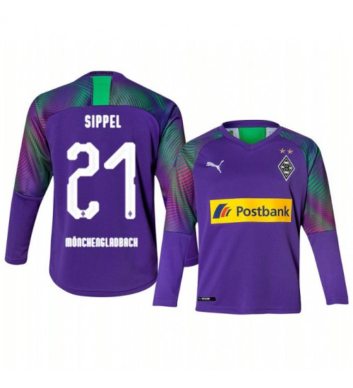Youth 2019/20 Borussia Monchengladbach Tobias Sippel Goalkeeper Authentic Long Sleeve Replica Jersey